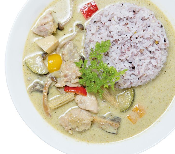 チキンと野菜のグリーンカレー